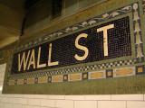Wall Street subway mosaic