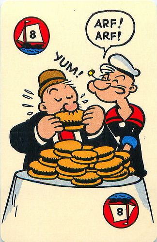 Popeye Ed-U-Cards Game