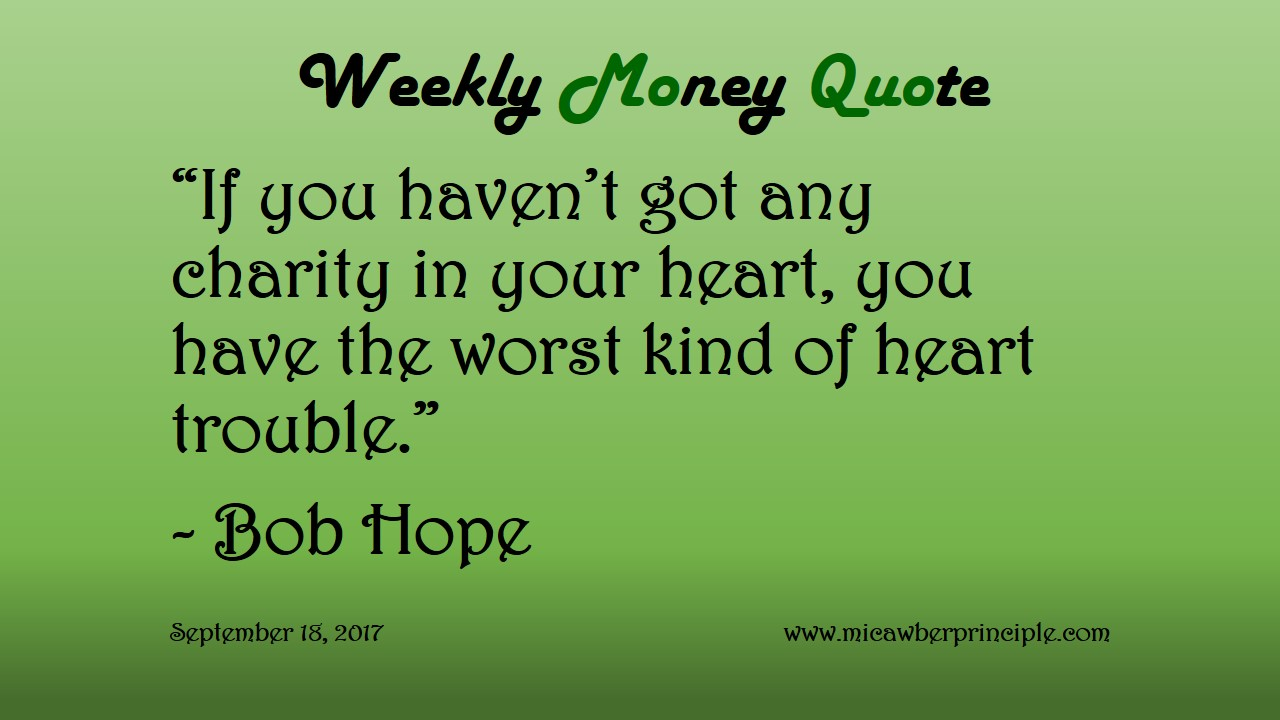 Superieur Heart Trouble U2013 Weekly Money Quote (September 17, 2017)